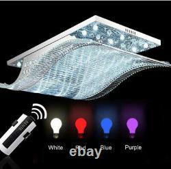 Modern Art Verre Plafond Lampes De Fixation Chandelier 7 Couleurs Led Lumières D'éclairage