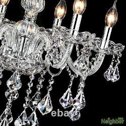 Modern Crystal Big Chandeliers Led Pendentif Lampe Plafond Lumières Lobby Éclairage