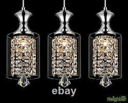 Modern Crystal Lustre Plafonnier Lumières Pendentif Lampe Led Éclairage 3 Lumières