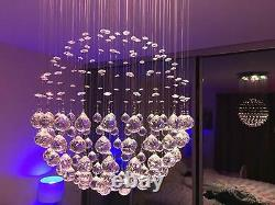 Modern Crystal Raindrop Room Lustre Éclairage Led Plafonnier Lampe De Fixation De Lumière
