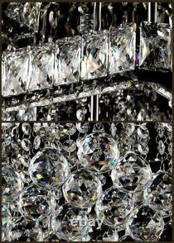 Modern Crystal Square Led Plafonnier Lumières Pendentif Chandelier Lampe Salon