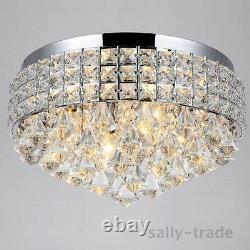 Moderne 14 Pouces Cristal Plafond Led Flush Mount Lumières Lustres Pendentif Lumière