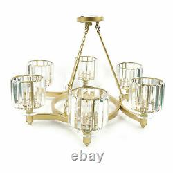 Moderne 6-lights Crystal Chandelier Crystal Pendentif Lampe De Plafond De Luxe