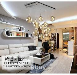 Moderne Boule De Verre Chambre Fixer Lampe Led Cristal Plafond Lumière Salon