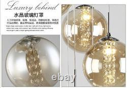 Moderne Boule De Verre Chambre Pendentif Lampe Led Cristal Plafond Lumière Salon