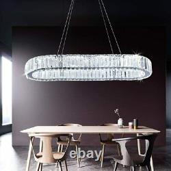 Moderne Chandelier Grand Cristal Led Plafond Lumière De Luxe Lampe Suspendu Chambre Royaume-uni