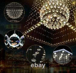 Moderne Clair K9 Crystal Chandelier Led Plafond Villa Stairs Éclairage Pendent