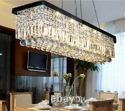 Moderne K9 Pendentif En Cristal Lumière Rectangle Plafonnier Lampe De Chandelier Éclairage