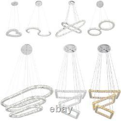 Moderne Led Cristal Éclairage Plafonnier Lumières Lumières Chandelier Pendentif Salon