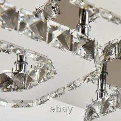 Moderne Led Cristal Plafond Lumière Flush Mont Chandelier Lampe Salon Chambre À Coucher
