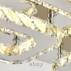 Moderne Led Cristal Plafonnier Lumières Pendentif Chandelier Lampe Salon Salle À Manger