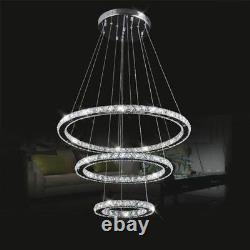 Moderne Led K9 Crystal Chandelier Pendentif Lampe Flush Mount Plafond Luminaire