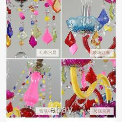 Moderne Multicolore Cristal Candelabra Plafond Chandelier Pendentif 6/8 Lampes