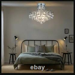 Moderne Véritable Cristal Lustre, Plafond Lumineux Pour Chambre Lumières Du Salon