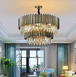 Moderniste Minimaliste K9 Crystal Chandelier Plafond Salon Chambre Éclairage
