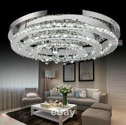 Nouveau Led Moderne K9 Clair Cristal Plafonnier Lumière Pendentif Lampe Chandelier Éclairage