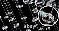 Nouveau Luxury K9 Crystal Raindrop Spiral Pendentif Lampe Plafonnier Lumière Lumière Loft