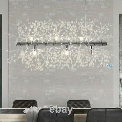 Pendentif D'éclairage En Cristal Moderne Silver Chandelier 9 Feu D'artifice Léger Plafonnier