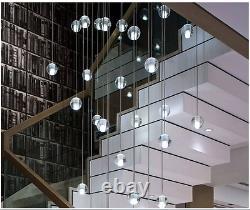 Pendentif De Boule De Verre De Cristal Plafonnier Lampe De Lumière Sans Led G4 Ampoules Chandelier Decor