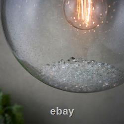 Pendentif De Plafond Multi-lumière Chrome & Glass7 Ampoule Moderne Ronde Lampe Drop Drop