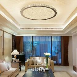 Perles Modernes En Verre Cristal Clair Led Plafond Rond Lumières Flush Mount 35/45/60cm