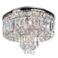 Projecteur 5 Lumière Chrome Boule De Cristal Gouttes Pendentif De Plafond Moderne Chandelier