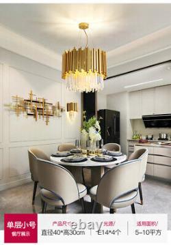 Raindrop Gold Modern Crystal Chandelier Luxe Pendentif Éclairage De Plafond Montages