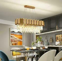 Raindrop Gold Modern Crystal Chandelier Luxury Pendentif Plafond Luminaire
