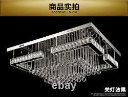 Rectangle Cristal Lumière Led Plafonnier Lustre Moderne Chambre À Coucher De Plongée