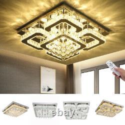 Square Led Cristal Plafond Lumière Moderne Salon Chambre Pendentif Chandelier