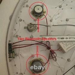 Télécommande Ctrl + Bluetooth 3 Couleurs Véritable Lustre De Lumière De Plafond À Chasse D'eau