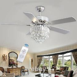 Télécommande Ventilateur De Plafond Lumière 3/5 Lames Réversibles Salon Cuisine Décor
