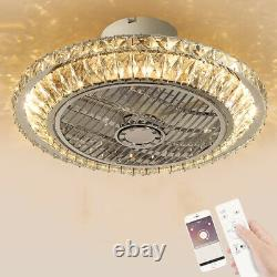 Ventilateur De Plafond Avec Ventilateur De Plafond En Cristal Léger Avec Lumière Led 72w Chandelier Moderne