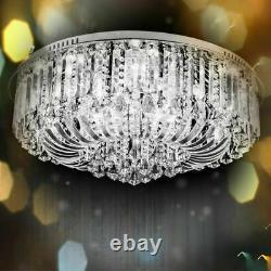 Véritable Lumière De Plafond En Cristal +bluetooth Haut-parleur Lustre Lamp Remote 3 Couleur