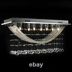 Vidaxl Ceiling Lamp White With Glittering Glass Crystal Beads 8xg9 29cm Lumière