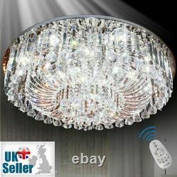 Wdw 14 Led Lumière K9 Cristal Plafond Lumière Lustre, Finition Chrome 80cm D