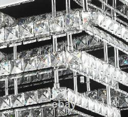XXL Led Plafonnier Lampe Cristal Lustre Télécommande Dimmable Luxe Chaud Froid 40-70cm